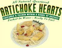 premium quartered artichoke hearts (water & marinated)
