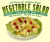 all natural italian style vegetable salad